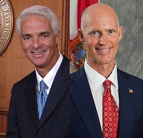 Florida Governors Rick Scott and Charlie Crist