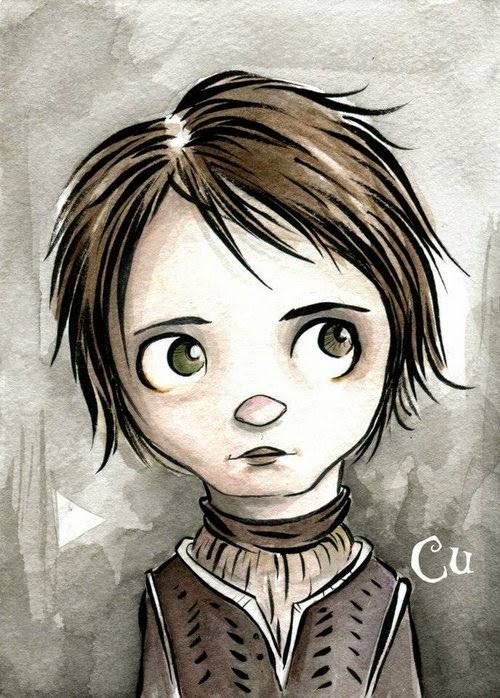 04-Game-of-Thrones-Arya-Stark-Chris-Uminga-Game-of-Thrones-Watercolours-www-designstack-co