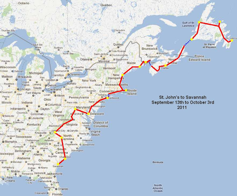 St John S To Savannah September 14th To October 3rd 2011 St Andrews New Brunswick Canada