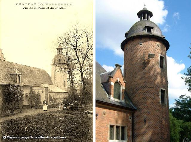 Château du Karreveld - De scènes d'histoire en scènes de théâtre - Vue de la tour et du jardin - Molenbeek-Saint-Jean - Bruxelles-Bruxellons