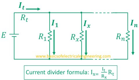 current divider rule [statement, formula, examples, and derivationgeneral current divider formula
