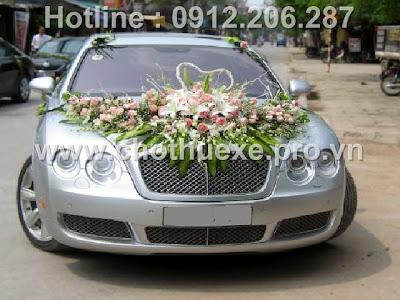 Mẫu hoa xe cưới hoa Hồng - Ly giá 1,6 triệu XH 001