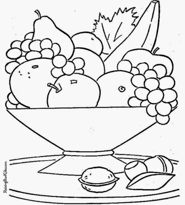 salad coloring pages - photo#19