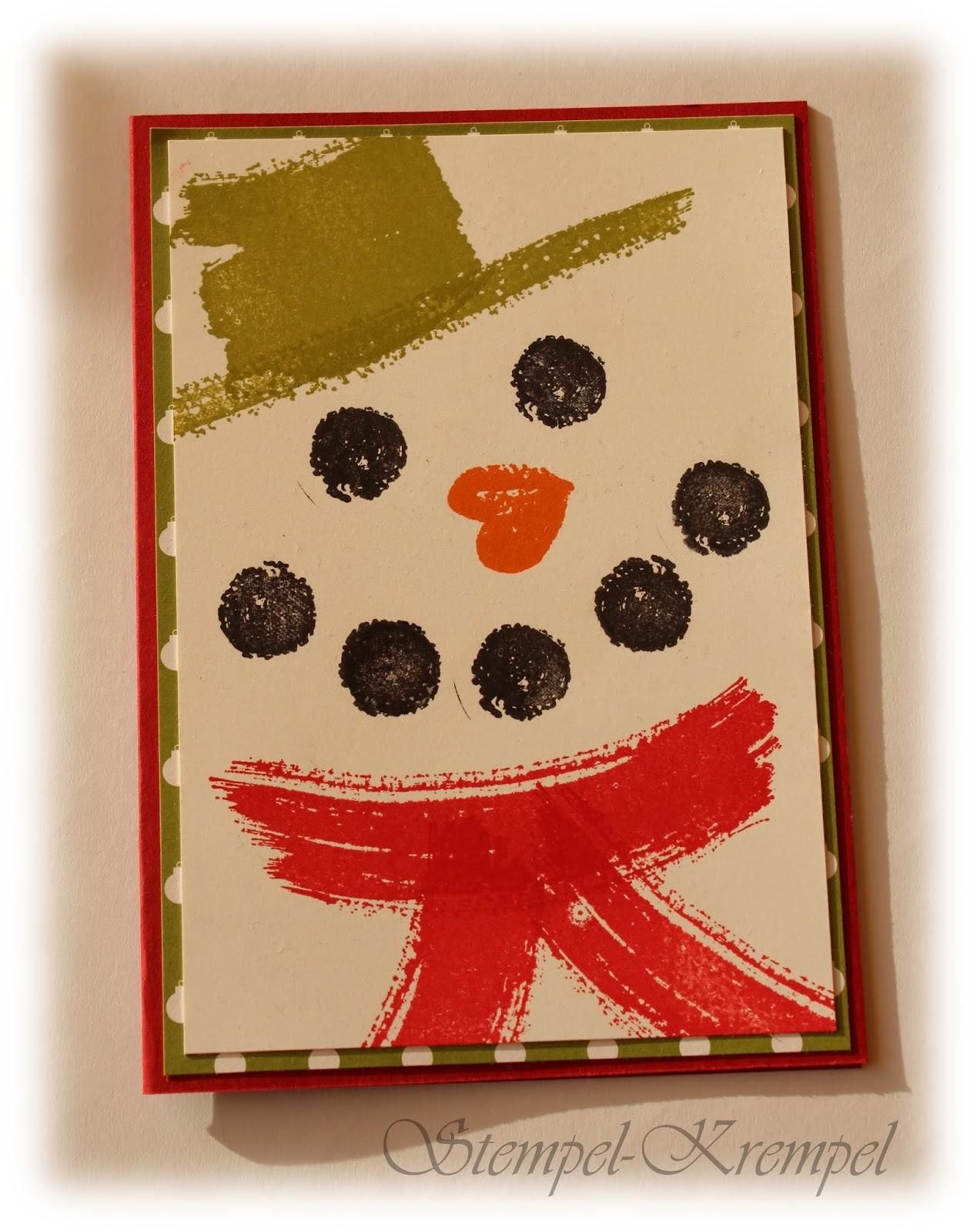Stempel krempel weihnachtskarten fast ohne - Niedliche weihnachtskarten ...