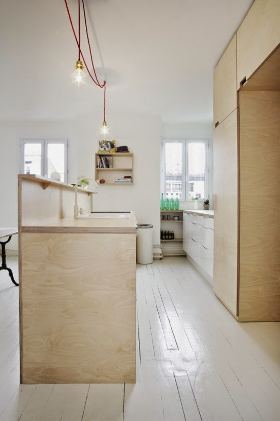 Compact Scandinavian-Styled Plywood Kitchen With Mint Touches 5