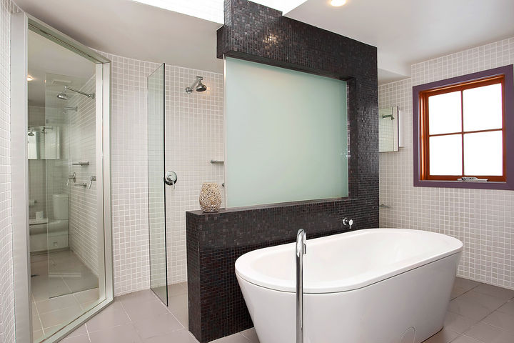 Minosa modern main bathroom designed to share for Main bathroom designs