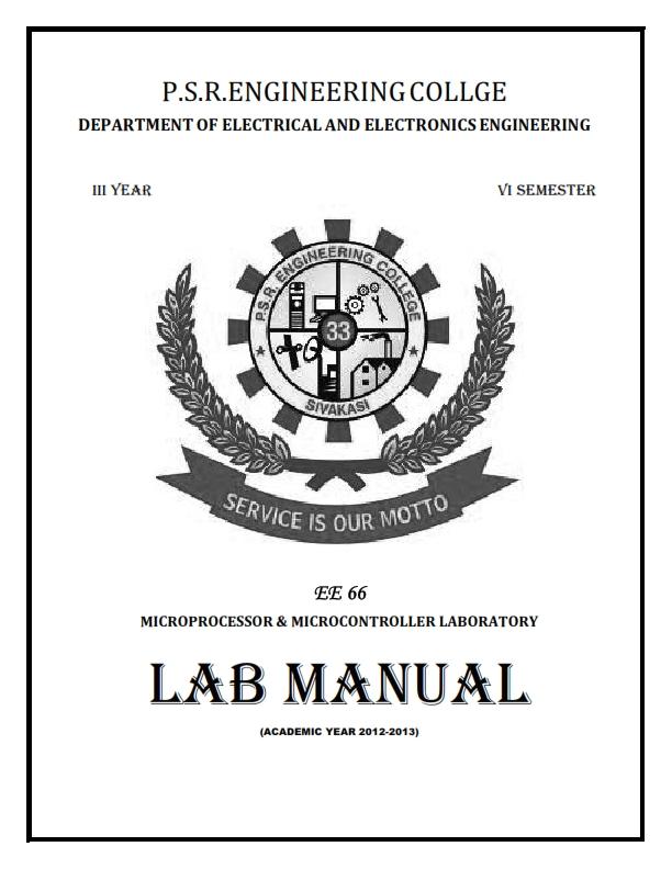 electrical and electronics engineering ee66 microprocessor rh eeeuniversity com ee lab manual ee lab manual