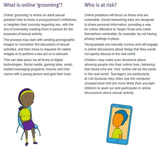 Signs of online grooming