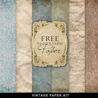 Freebies Vintage Winter Paper