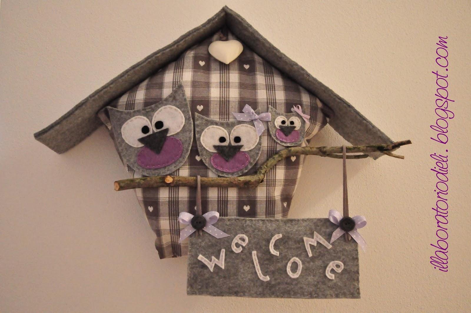 Il laboratorio di eli la famiglia gufetti for Bellissimi disegni di casa dentro e fuori