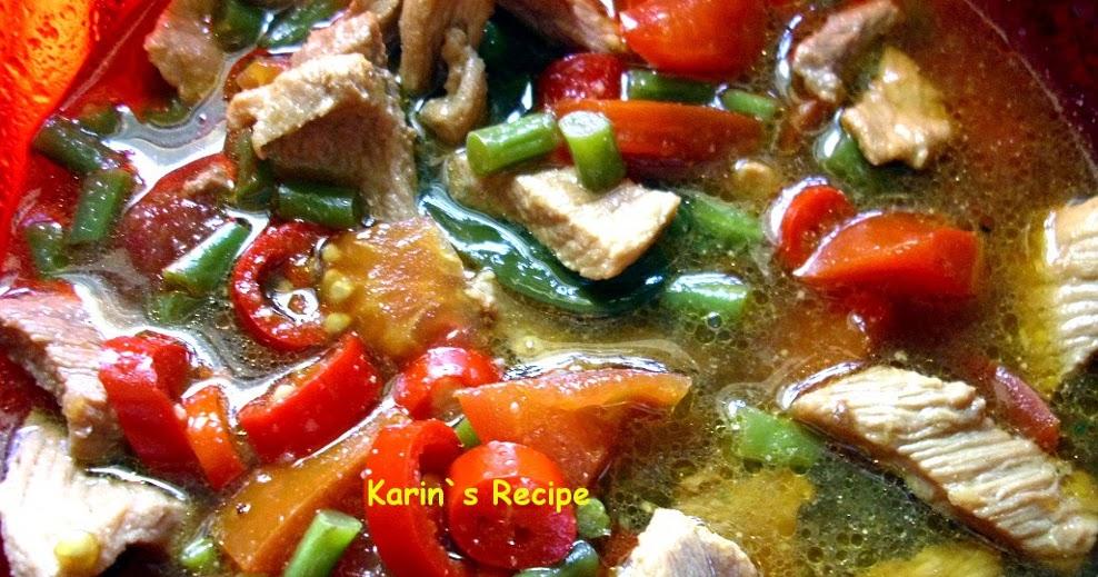 Resep Asem Daging Indonesian Recipes Food Hijau