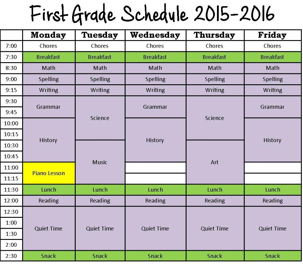 sparrows at home a day in the life our homeschool schedule 2015 2016. Black Bedroom Furniture Sets. Home Design Ideas