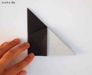 cara membuat origami hewan kucing