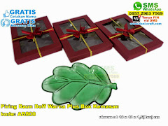 Piring Daun Doff Warna Plus Box Kemasan