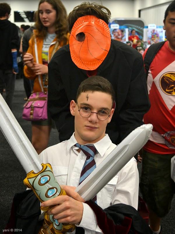 oz comic-con adelaide - wheelchair harry potter and tobi uchiha