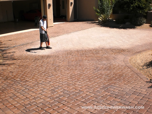 how to clean pavers without power washing