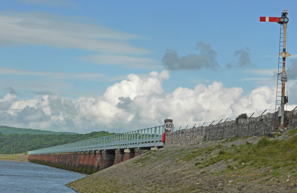 Arnside railway viaduct from Arnside