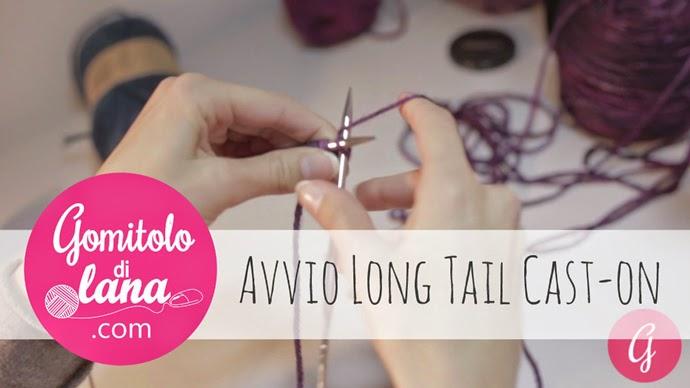 avvio long tail cast-on a maglia - gomitolodilana
