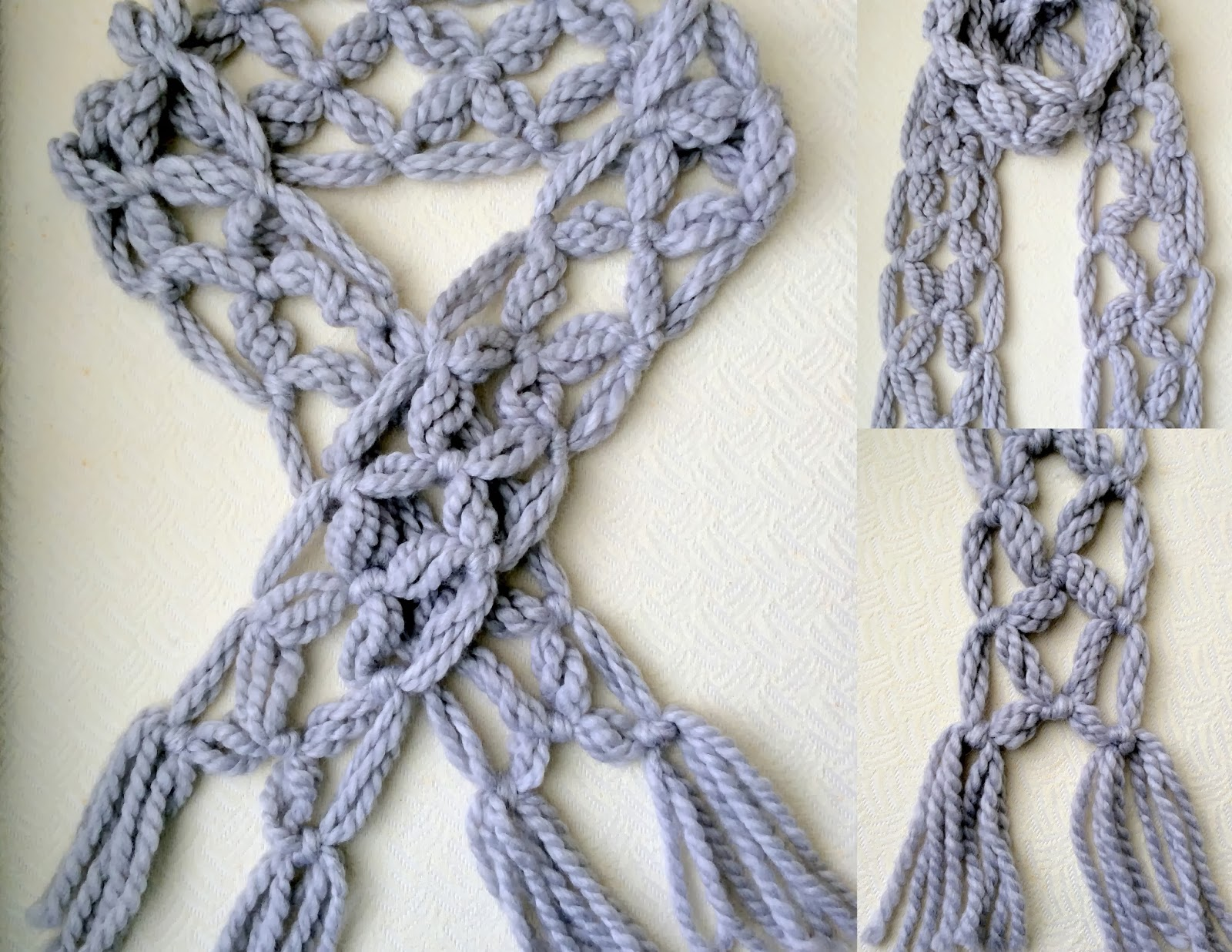 No Knit Scarf Patterns : Pewter No Knit Scarf