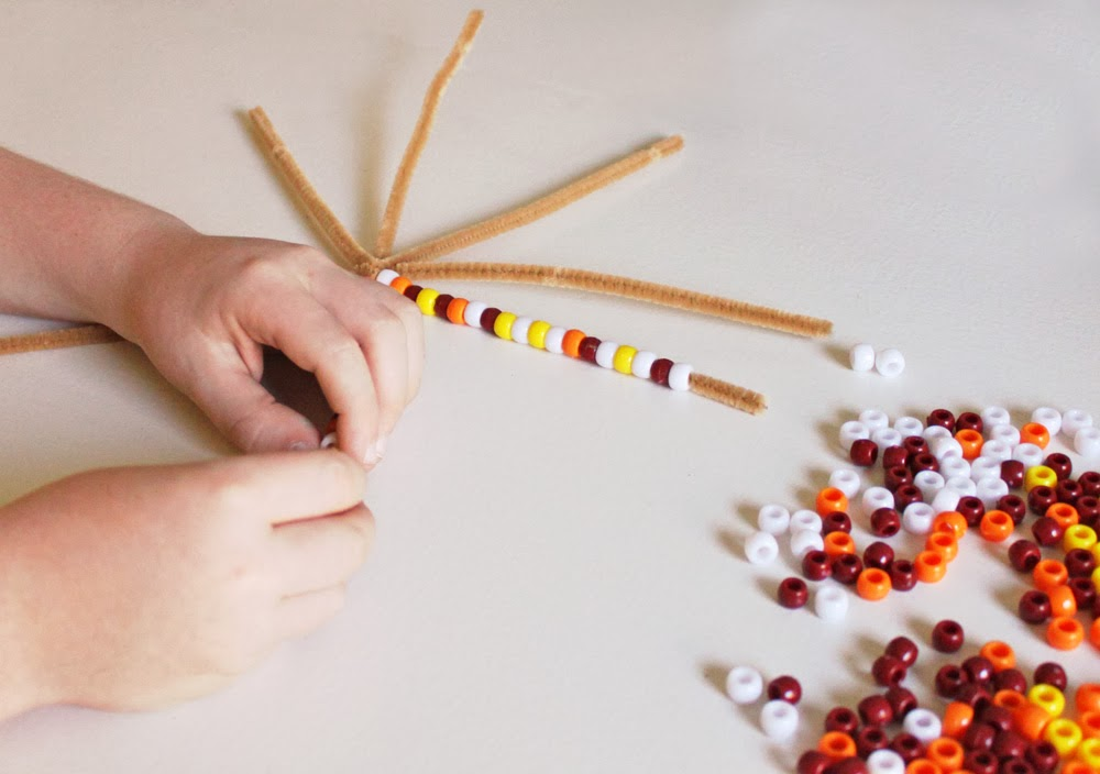 Pony bead indian corn fun and easy thanksgiving craft for the kids