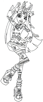 Printable Coloring Pages Monster High Boo York