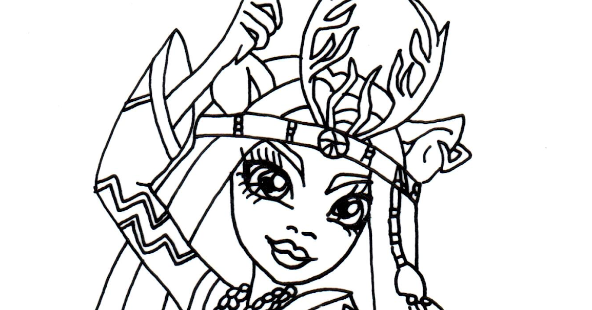 free printable monster high coloring pages isi dawndancer monster