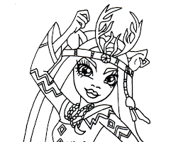 Monster High Nefera De Nile Colouring Pages