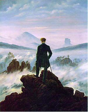 vast and mysterious art the wanderer above the sea of fog. Black Bedroom Furniture Sets. Home Design Ideas