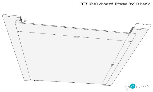 back plans for 8x10 chalkboard frame