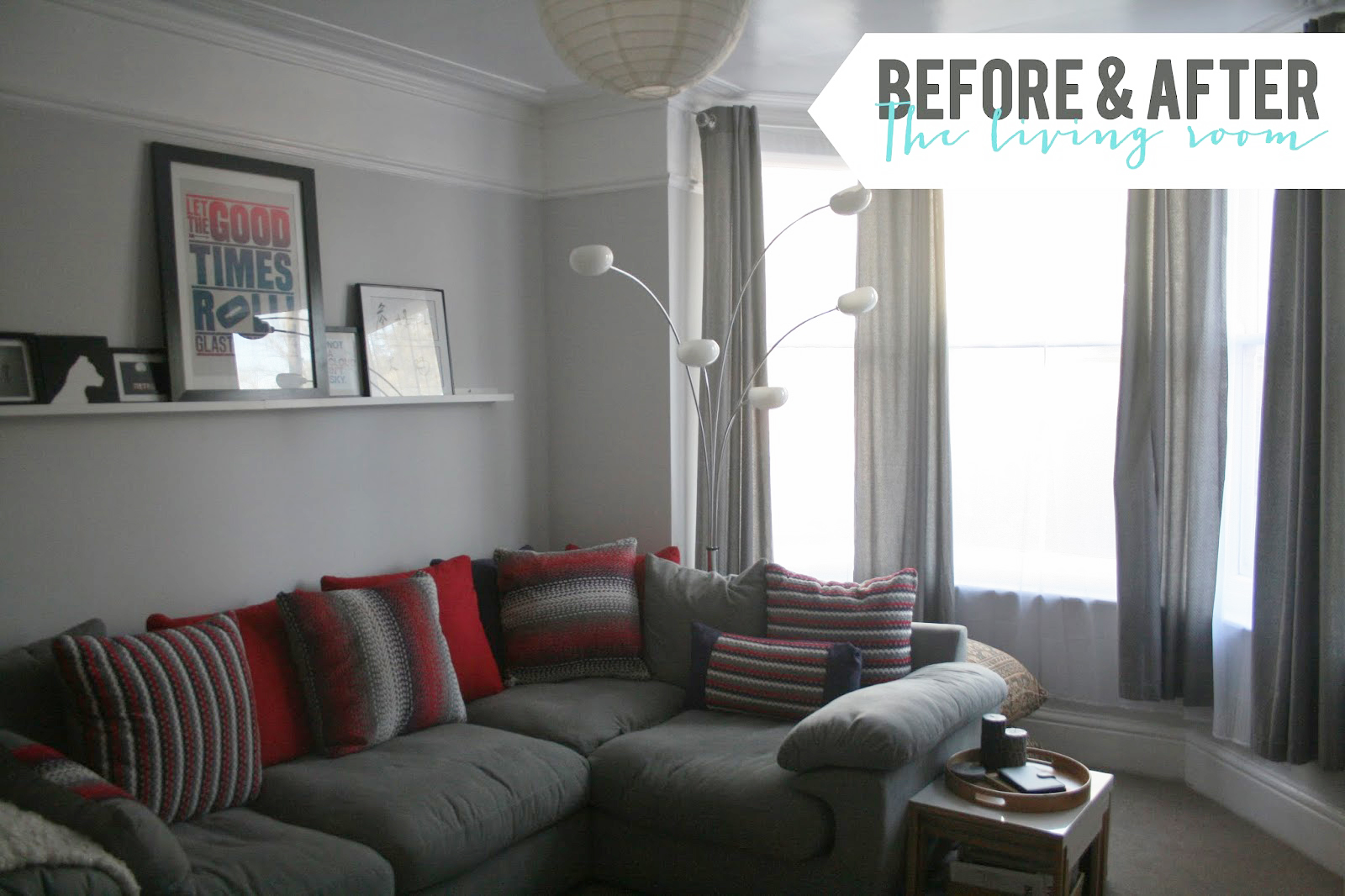 Living Room Revamp Before During And Afters To Follow
