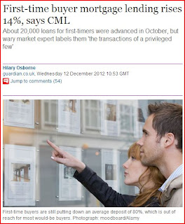 First Time Buyers Lending LTV Errors in The Guardian