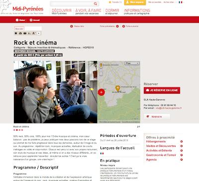 Les colos rock et cinéma Rock The Casbah en Midi-Pyrénées