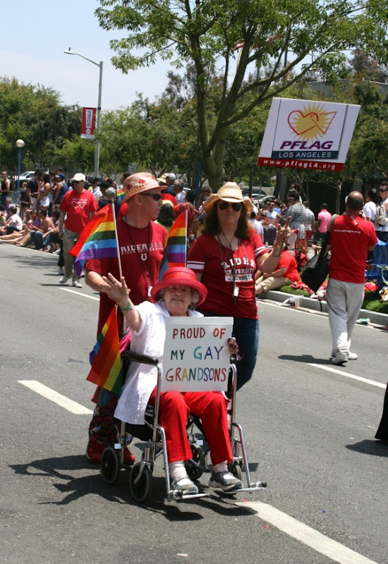 Proud PFLAG Grandmother LA Pride Parade 2013