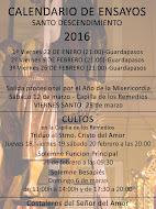 CALENDARIO DE ENSAYOS 2016