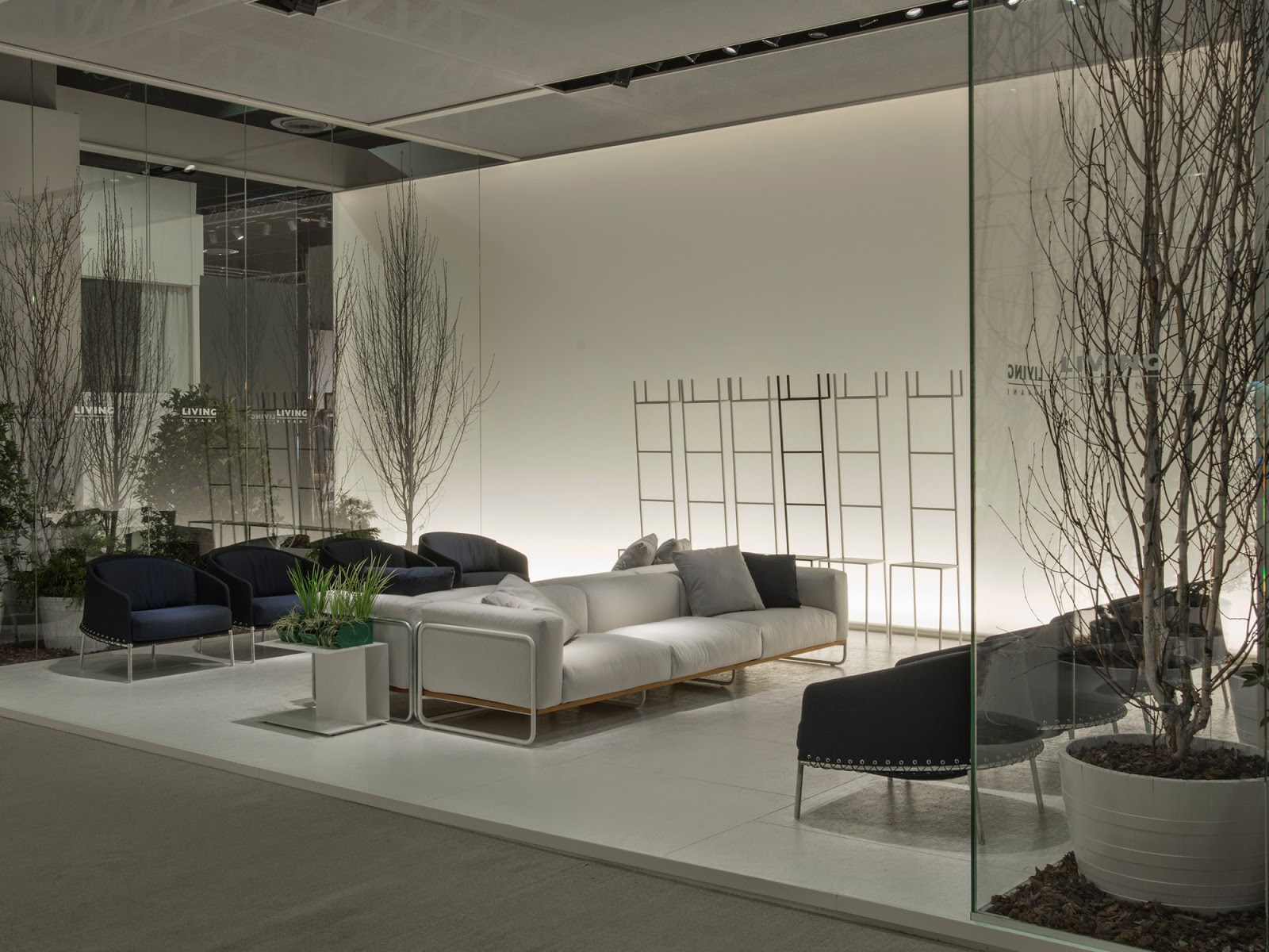 Filo sofa and Poncho lounge chairs from Living Divani