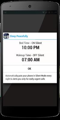 Sleep peacefully Android செயலி