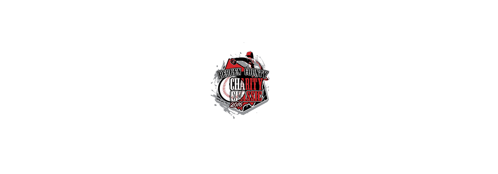 VECTOR LOGO DESIGN FOR PRINT BERGEN COUNTY CHARITY CLASSIC BASEBALL EVENT