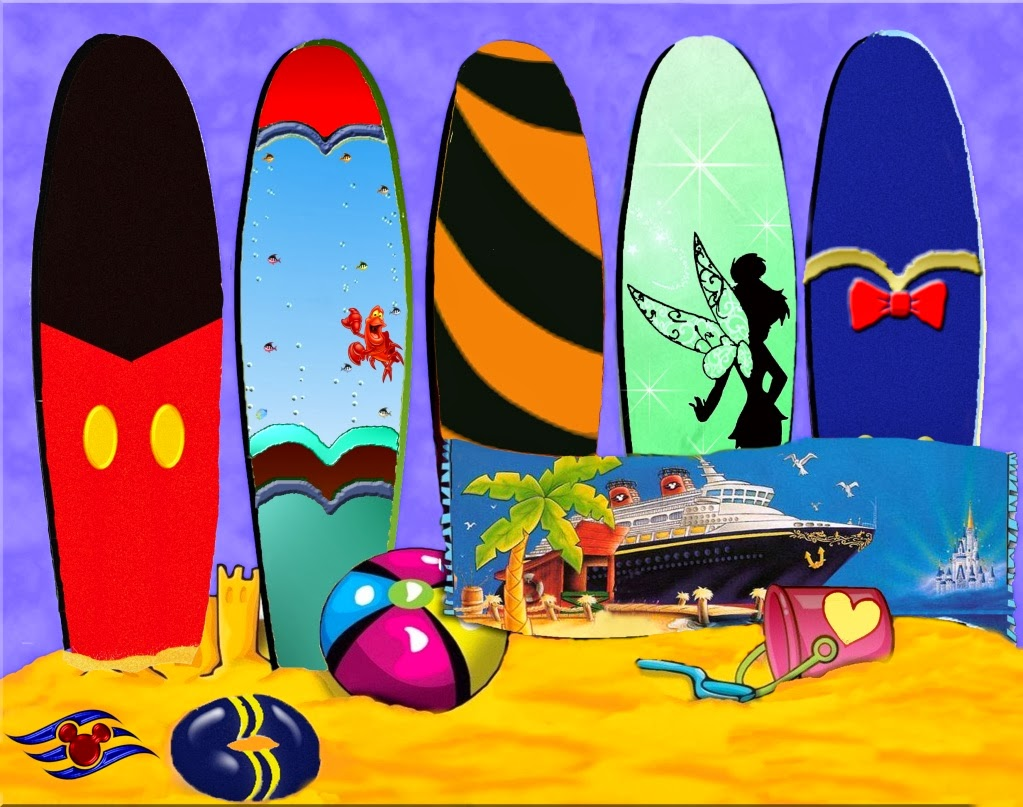 Tablas de surf a lo disney ideas y material gratis para - Tabla surf decoracion ...