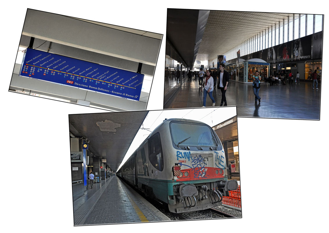 Our life in singapore from civitavecchia to rome by train and bus - Train from fiumicino to civitavecchia port ...