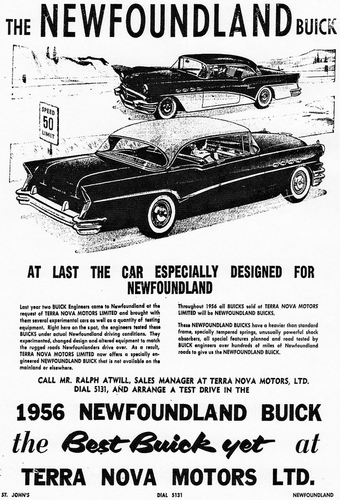 Old Cars Canada: 1956 Newfoundland Buick: For Townies & Baymen Only