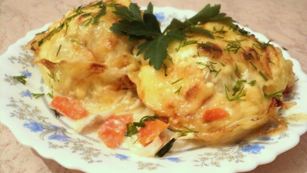Рецепты из минтая в духовке с картошкой пошагово в