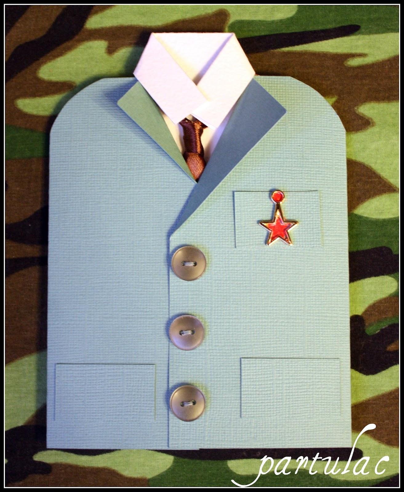 Открытки в виде рубашек с галстуками своими руками 62