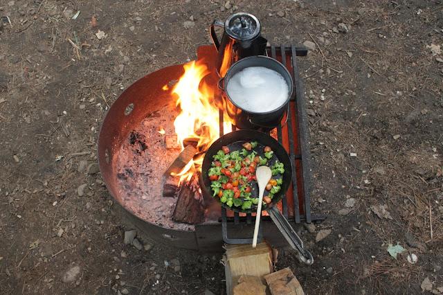 campfire cooking [bon echo]