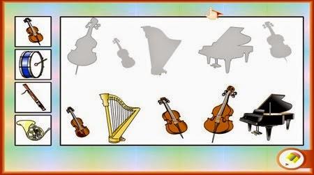 JUEGA CON LOS INSTRUMENTOS MUSICALES