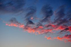 Rosarote Wolken...