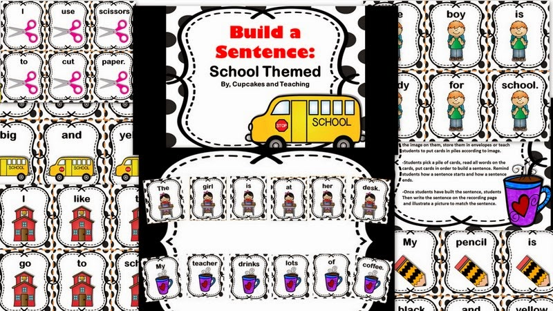 http://www.teacherspayteachers.com/Product/Build-a-Sentence-Sentence-Sorts-Beginning-of-the-Year-1300699
