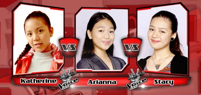 Battle Round between Katherine Medina, Stacy Pineda and Arianna Ocampo on The Voice Kids Philippines Team Bamboo Battle Rounds