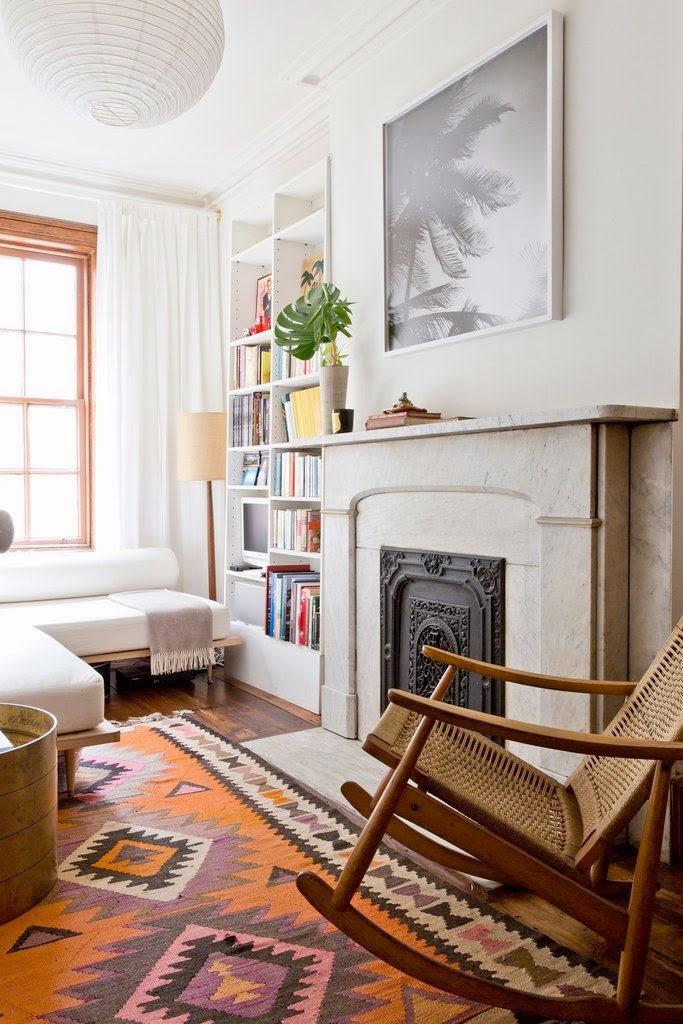 Tapete Patchwork Simples : 12 Salas de estar com o tapete patchwork / vintage Decora??o