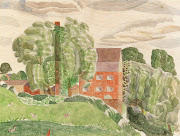 1927 Bullford Mill near Black Notley Essex watercolour