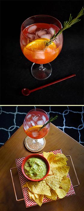 Gin tônica com Bombay Bramble e suco de tangerina